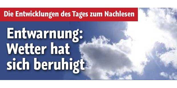 Wetterlage in Österreich hat sich beruhigt