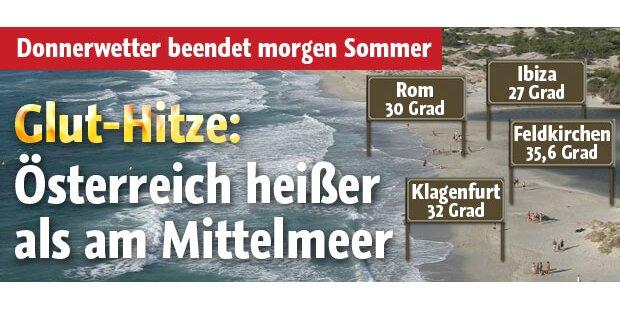 Österreich heißer als am Mittelmeer
