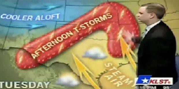 Riesen-Penis statt Gewitterfront