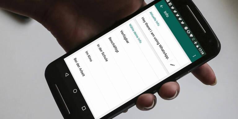 Trick Bringt Alten Whatsapp Status Vorab Zurück