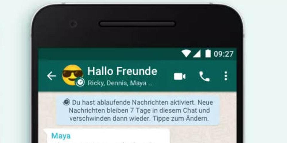 Profilbild in whatsapp weg