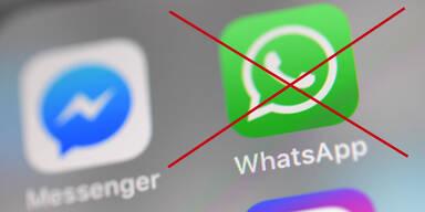 durchgestrichenes Whatsapp Icon