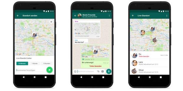 WhatsApp zeigt jetzt live, wo Freunde sind