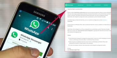 WhatsApp-Panne zeigt: So holt man verschickte Nachrichten