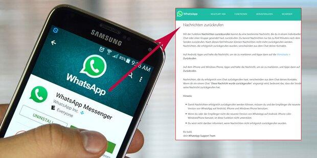 WhatsApp-Panne zeigt: So holt man verschickte Nachrichten zurück