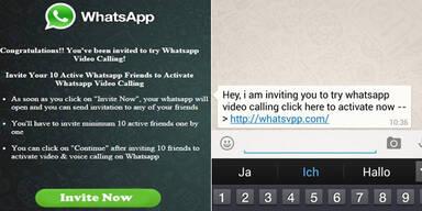 WhatsApp-Falle im Umlauf