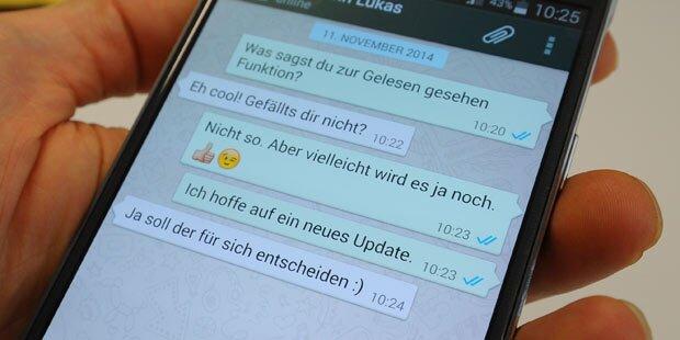 WhatsApp: Blaue Häkchen auch am iPhone weg