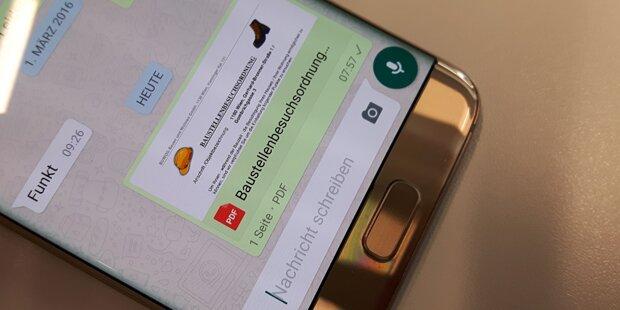 WhatsApp: So senden Sie Dokumente