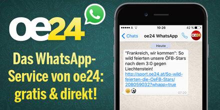 Nichts mehr verpassen mit dem WhatsApp-Service von oe24!
