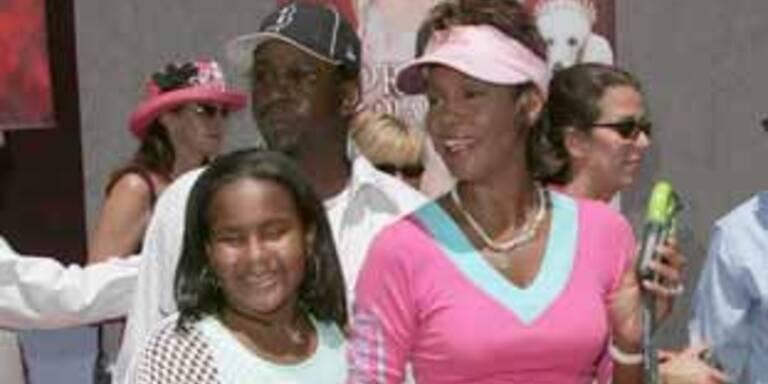 Whitney mit Tochter Bobbi Kristina