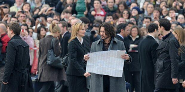 Jolie und Depp: Fans stürmen Venedig