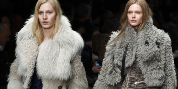 Kuschelweich: Burberry auf Fashion Week