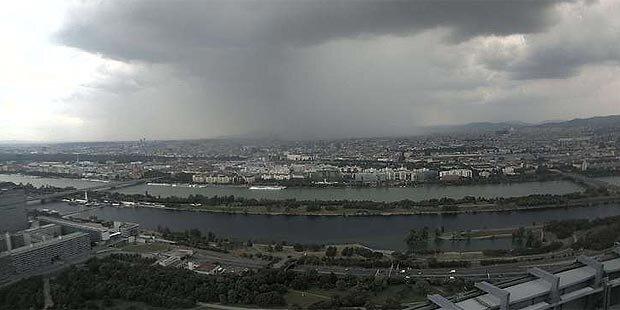 Gewitter brachte Sintflutregen über Wien