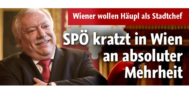 SP kratzt in Wien an absoluter Mehrheit