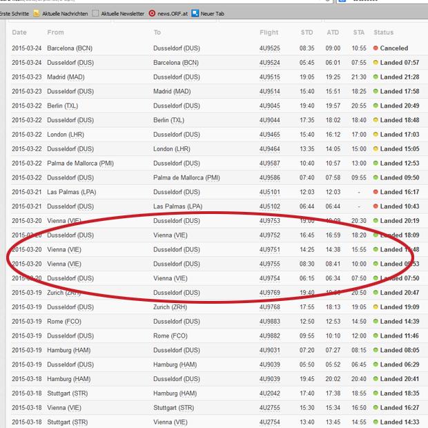 Germanwings Absturz Passagierliste
