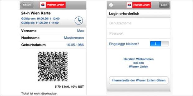 Wiener Linien App Für öffi Tickets Am Handy
