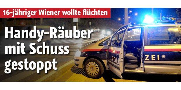 Handyräuber in Wien mit Schuss gestoppt