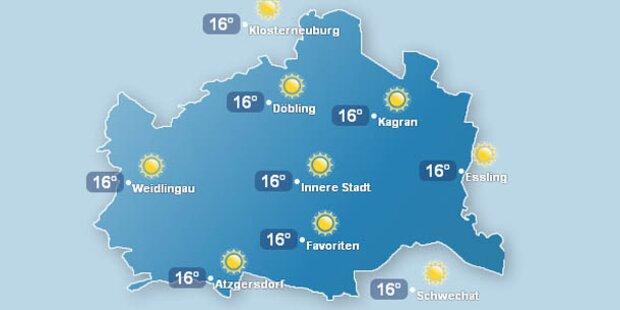 In Wien ist es so warm wie in Rom
