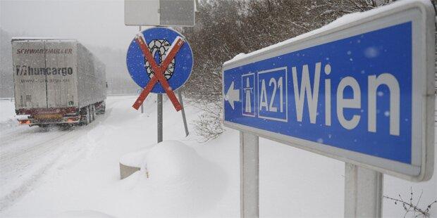 In Wien fehlt nur 1 Grad für Schnee