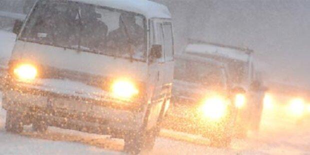 Schnee vervierfacht Bremsweg
