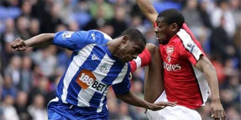 Wigan kickt Arsenal aus dem Titelrennen