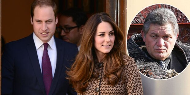 Kate & Will blitzen bei Maori-König ab