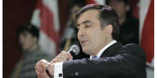 Saakaschwili zum Präsidenten Georgiens gewählt