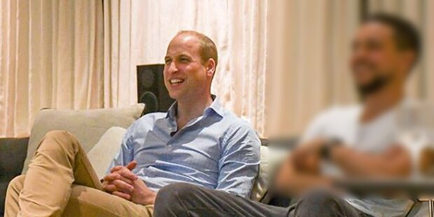 Prinz William schaute England-Match mit IHM