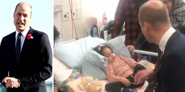 Nach Koma: William besucht verletztes Mädchen