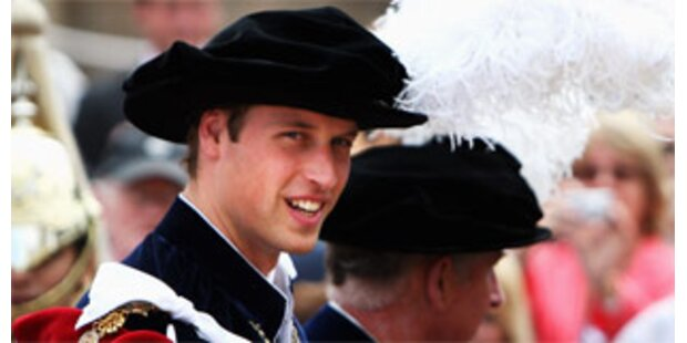 Prinz William erhält den Hosenbandorden