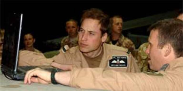 Prinz William bei den britischen Truppen ain Afghanistan