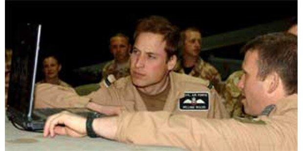 Prinz William besuchte Truppen in Afghanistan