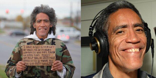 Obdachloser hat die perfekte Stimme