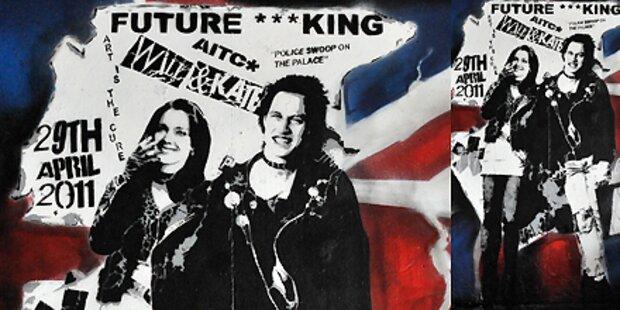 Das sind Will und Kate als Punkpärchen