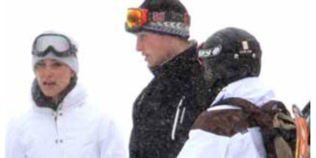Prinz William und seine Kate turteln im Schnee
