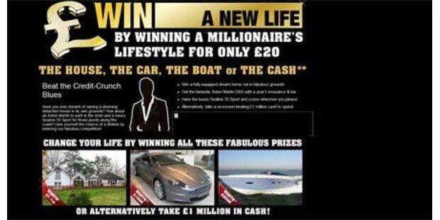 Millionär verlost sein Leben im Internet