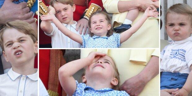 Kate & Will nicht königlich: Kids machen Grimassen-Show