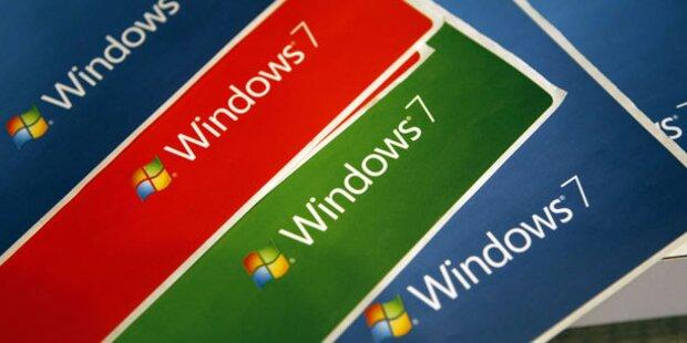 Windows 7 zieht erstmals an XP vorbei