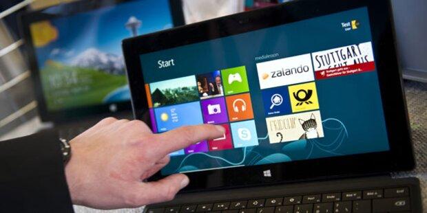 Update für Windows 8 gibt es kostenlos