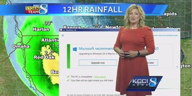 Windows 10 crasht Live-Wetterbericht