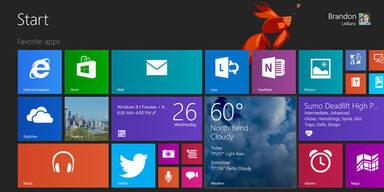 Windows 8.1 mit Skype und Start-Button