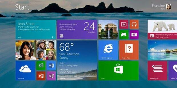 Windows 8.1: Start-Button feiert Comeback