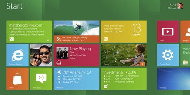 Windows 8-Beta kommt Ende Februar
