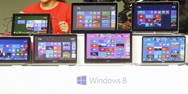 Windows 8 bleibt hinter den Erwartungen
