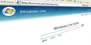windows live search screenshot