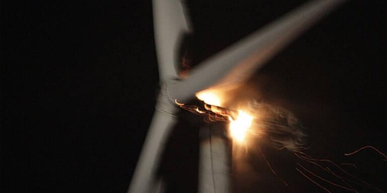 Windrad fing Feuer - 2,5 Millionen Schaden