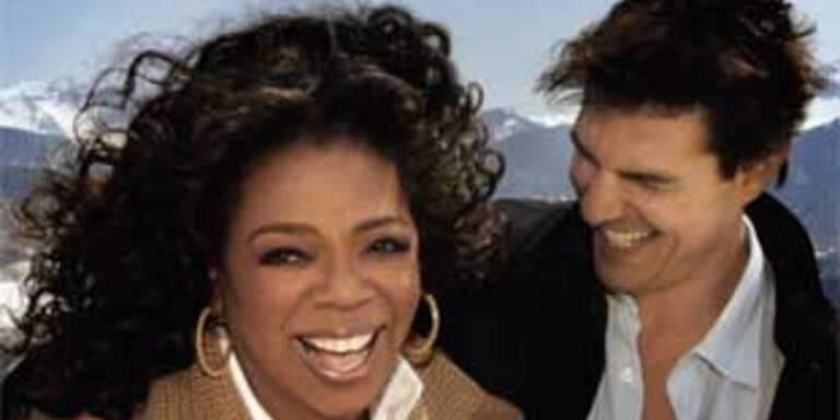 US-Talkerin Oprah Winfrey und Tom Cruise