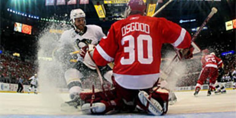 Red Wings lassen Penguins keine Chance
