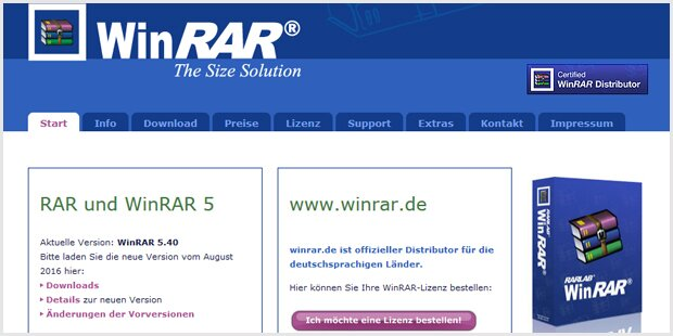 Kurios: Darum läuft die WinRAR-Testversion nie ab