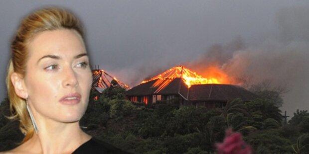 Kate Winslet entkam Feuer in Branson-Villa